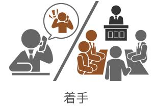 弁護士を代理人として手続きを行います。当法律事務所では、大分、杵築、別府に弁護士がおります。